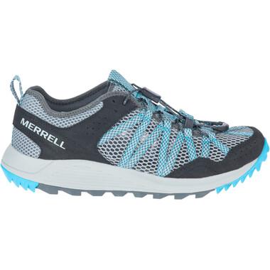 Chaussures de Trail MERRELL WILDWOOD AEROSPORT Femme Gris/Bleu 2021